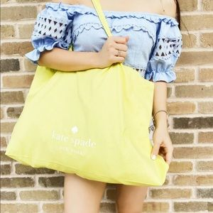 kate spade Bags - ♠️ New! Kate Spade Yellow Canvas Tote ♠️